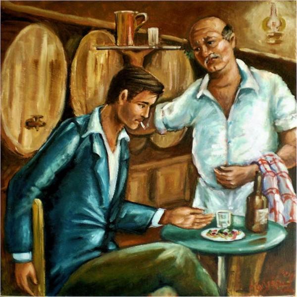 in the Greek Tavern