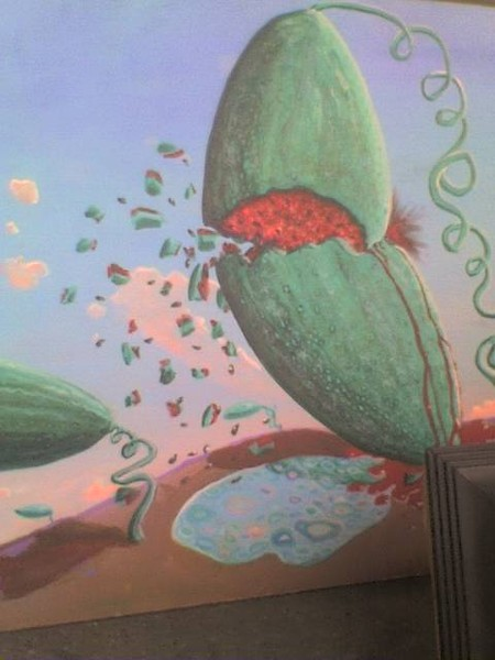 floating watermellons  detail of larger painting