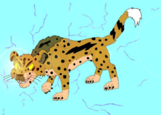 Chesley the cheetah (colored)