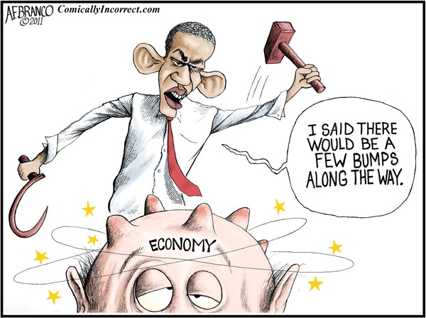 Economic Recovery Bumps (Cartoon)