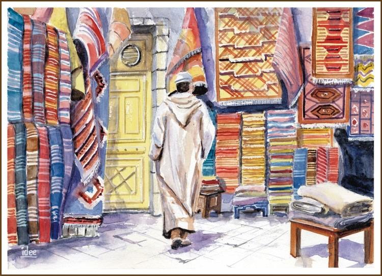 Carpet seller in Marrakech