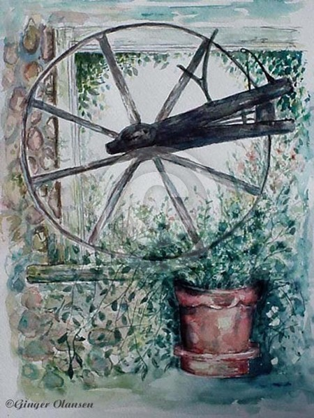 Wagon Wheel  - copyright by G Olansen (sold)