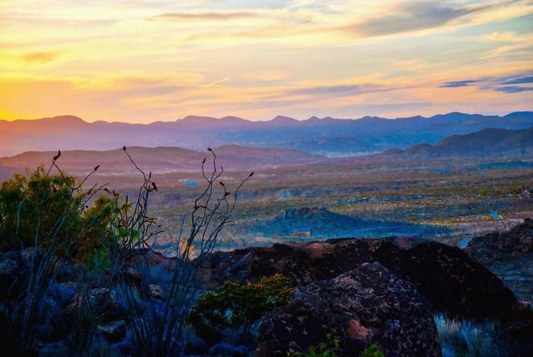 Big Bend vista at Sunset