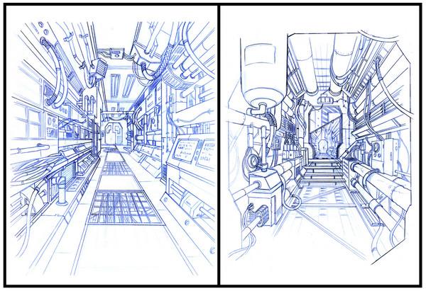 Space Ship interiors