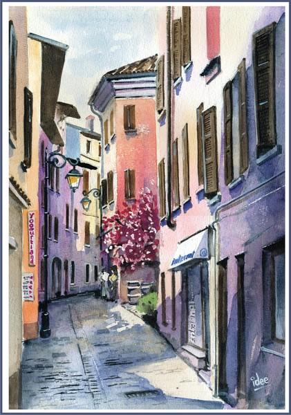 The narrow streets of Peschiera