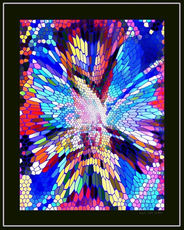Upwards. Stained-glass