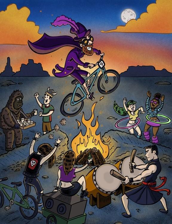 Bike Race Burning Man
