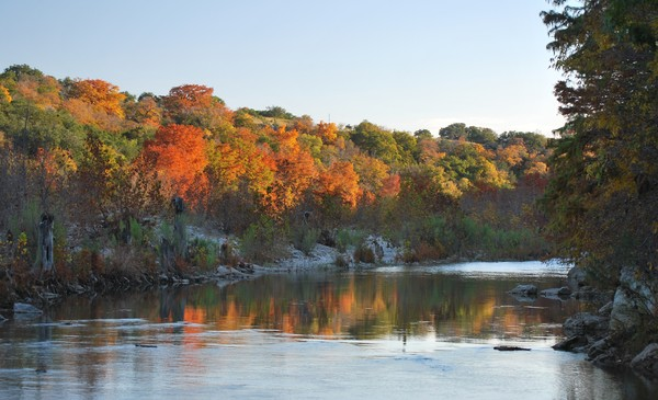 Fall Colors on the Pedernales