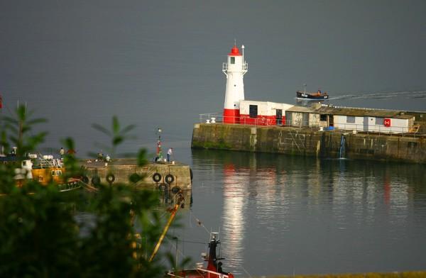 Newlyn Harbour Lighthouse, Cornwall, England