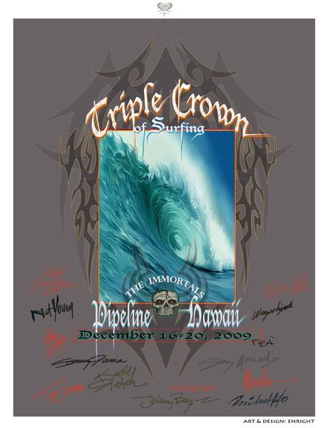 World Triple Crown Surfing Event Pipeline Hawaii
