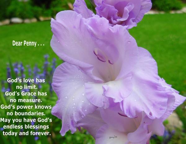 Dear Penny . . .