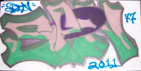 Spin Off Tag graffiti piece spray paint