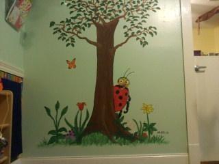 Ladybug Mural