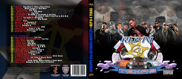 Rep'n 4 TEXAS CD cover (back & front)