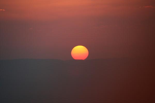 Sunrise from a Hot Air Balloon