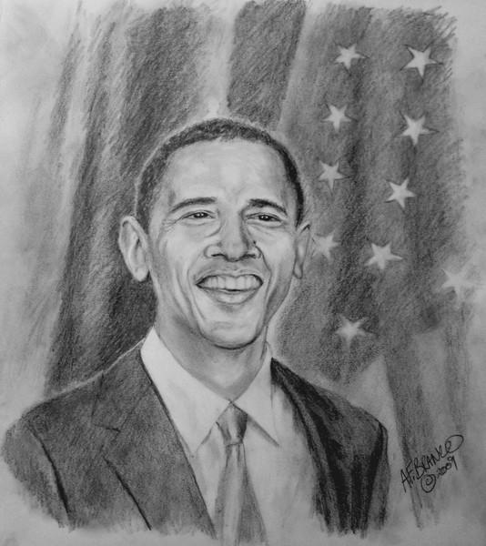Obama Pencil Portrait