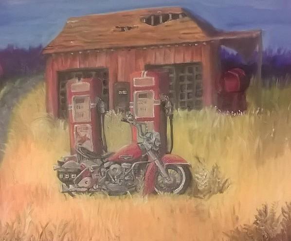 Forgotten America: Motorcycle in oil
