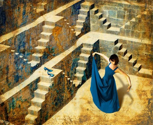 Blue Shoes by Van Renselar