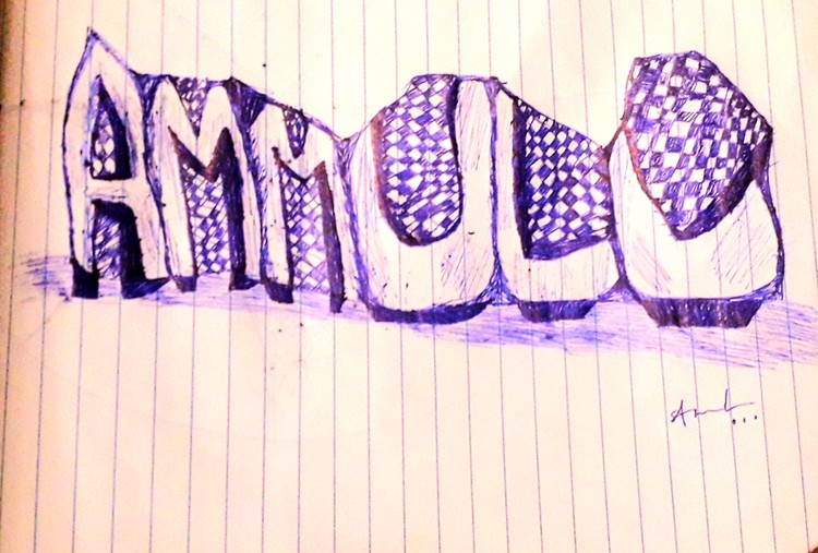 Name art with pen 1