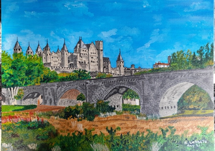 Medieval Castle of Carcassonne in Southern France