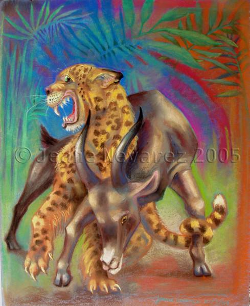 Leopard Goat Tangle