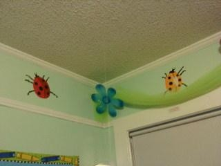 Ladybugs in the corner border