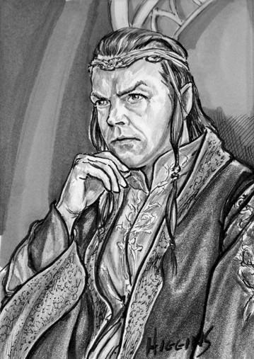 LOTR Sketch Cards Elrond