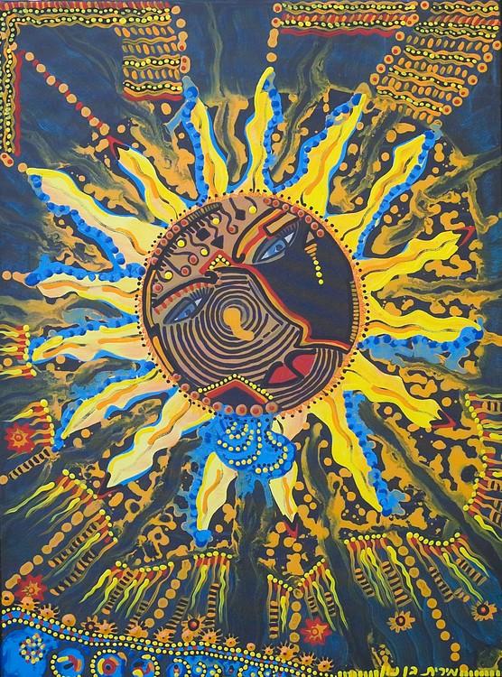 sun shine art painting modern  paintings mirit ben nun israel