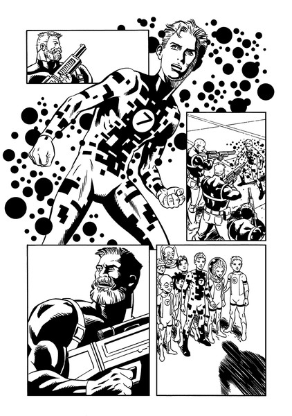 Fantastic Four page featuring Alex from Power Pack