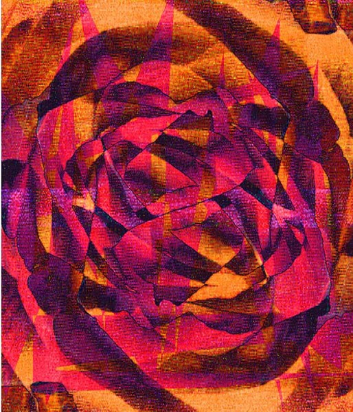 rose fire abstract print