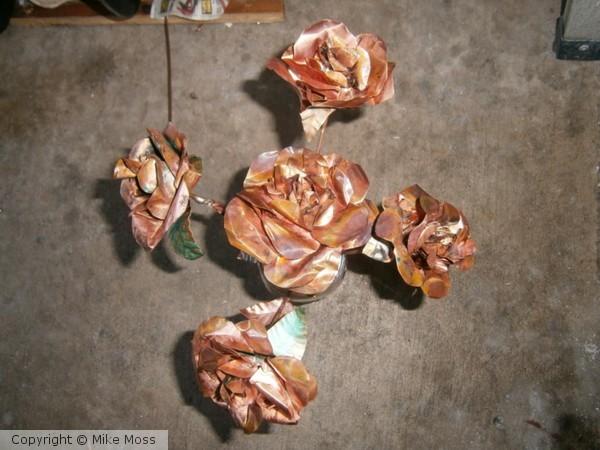 copper flowers