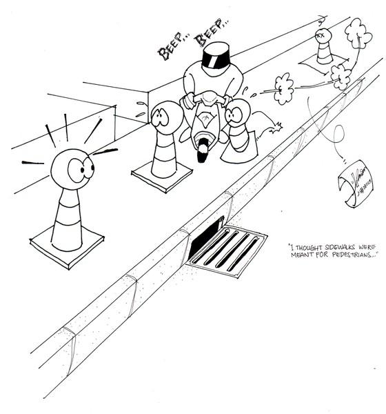 Sidewalk Slalom