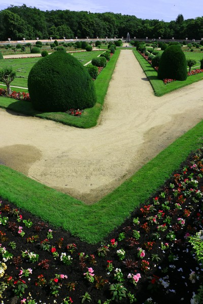 The gardens at Chateau Chenonceau