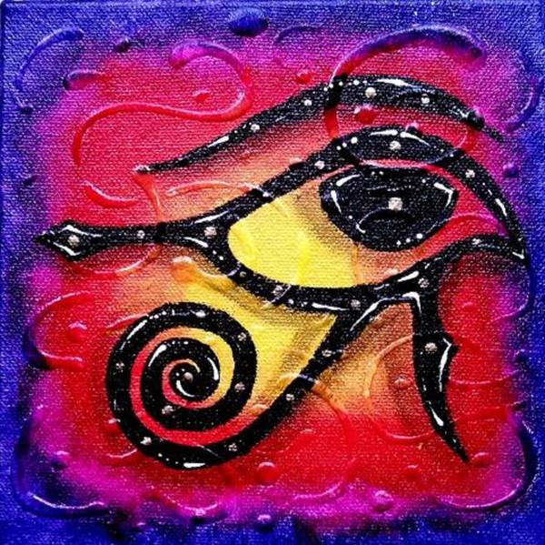 Eye Of Heru 3 - Egyptian Art
