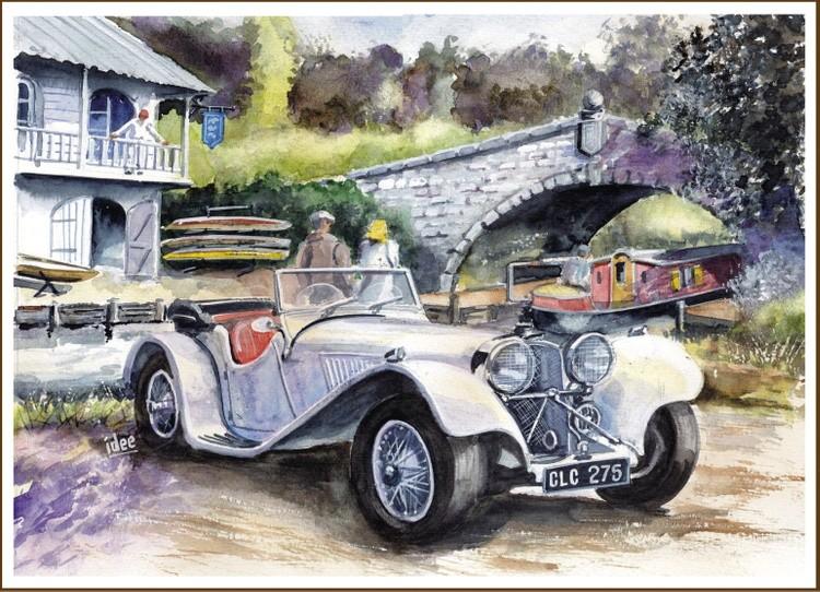Jaguar roadster SS100 1936