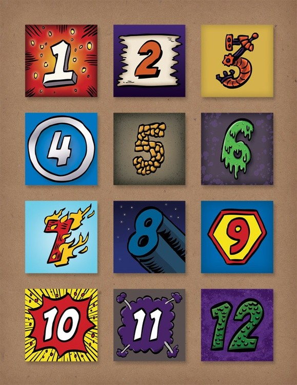 Comic Book Numbers | Client: SCBWI