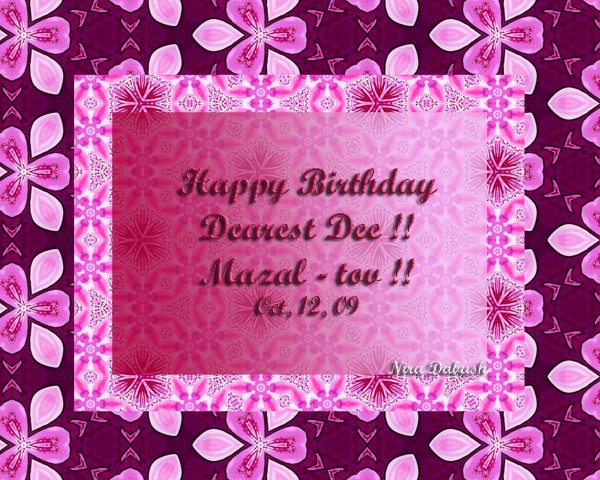 Happy Birthday DEE.. !! :-)