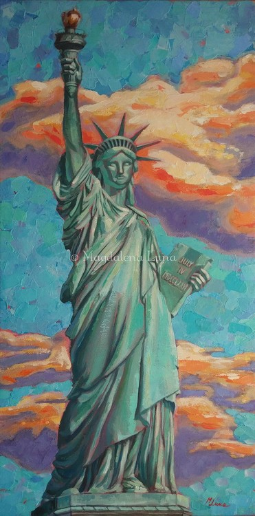NYC Lady Liberty in Summer