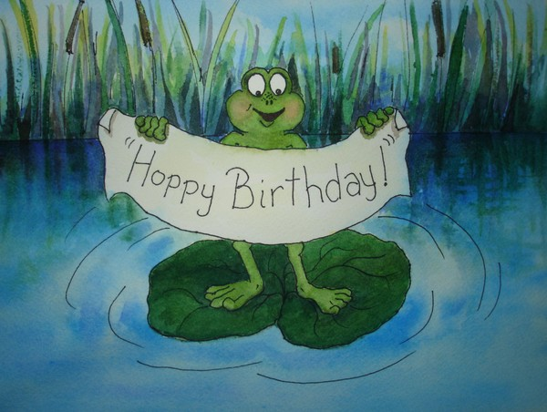 Frog Series:  Hoppy Birthday