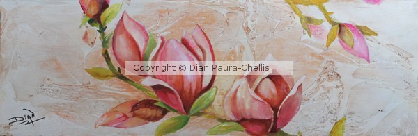 Abstract and Magnolias, sold