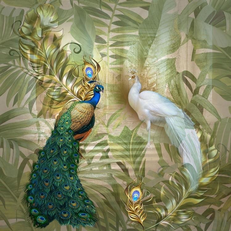 Gold fantasy background pattern