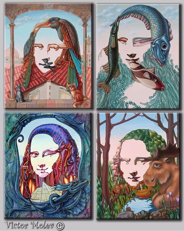 Series. Mona Lisa. Four forces.
