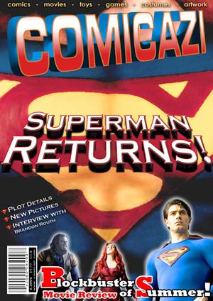 Superman Magazine Cover