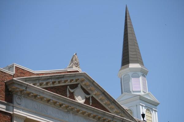 Organ hall & spire