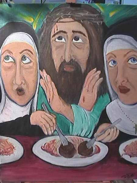 Jesus Forgives Nuns For Swiping His Meatballs
