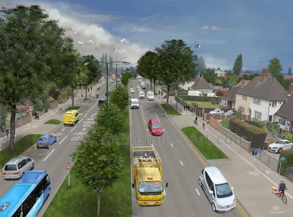 Major Transport Scheme Artistic impression (2of4)