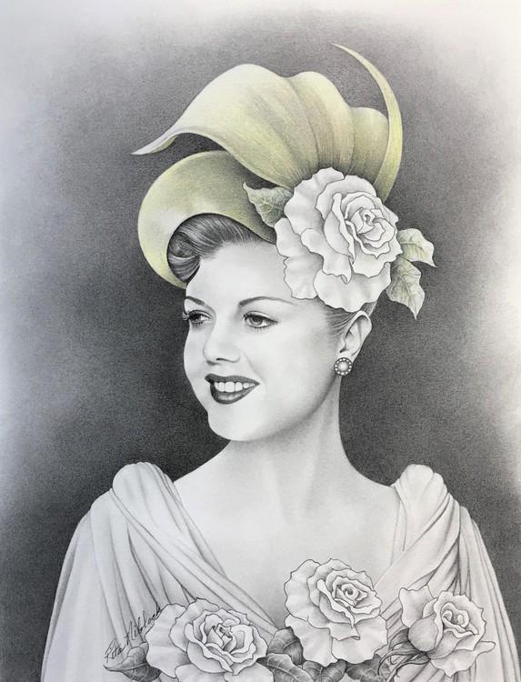 Lady in Hat III Young Angela Lansbury