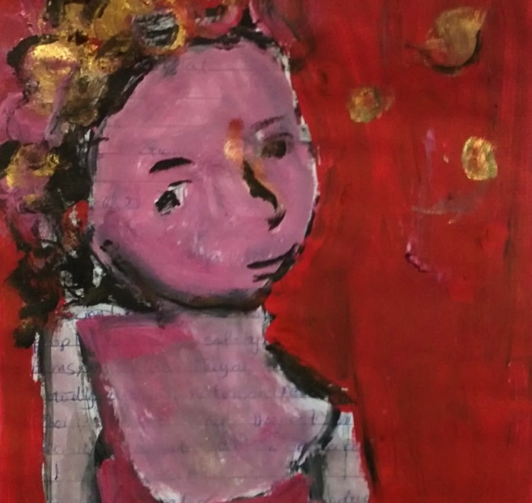 girl with red headband