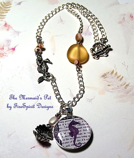 The Mermaid's Pet- handmade artisan necklace