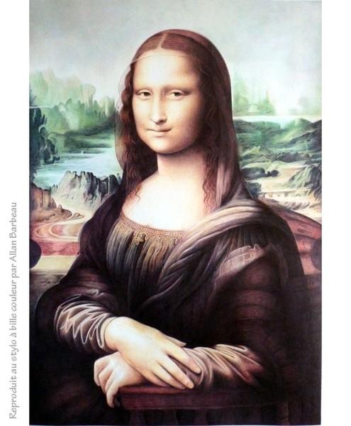 Mona Lisa with Ballpoint pen